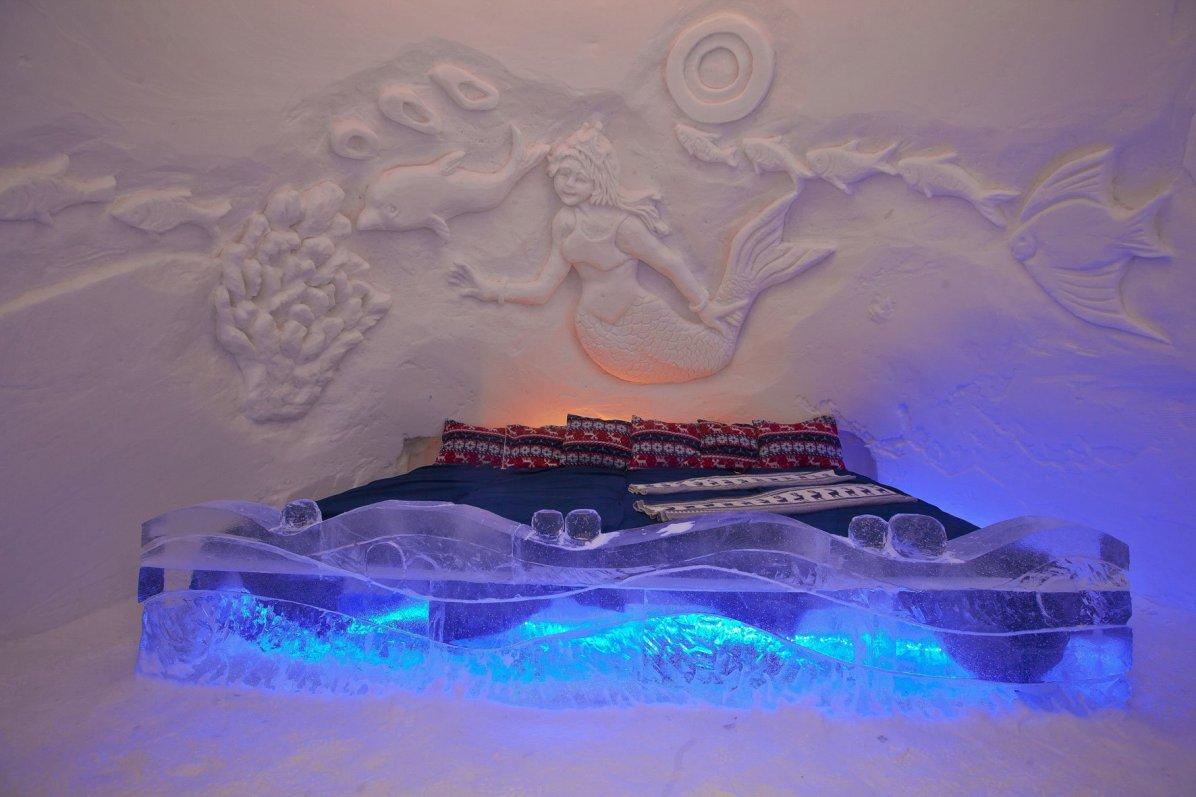 Ice and Snow Hotel - Kirkenes SnowHotel in Kirkenes, Norway - Royalty Free Stock Photo