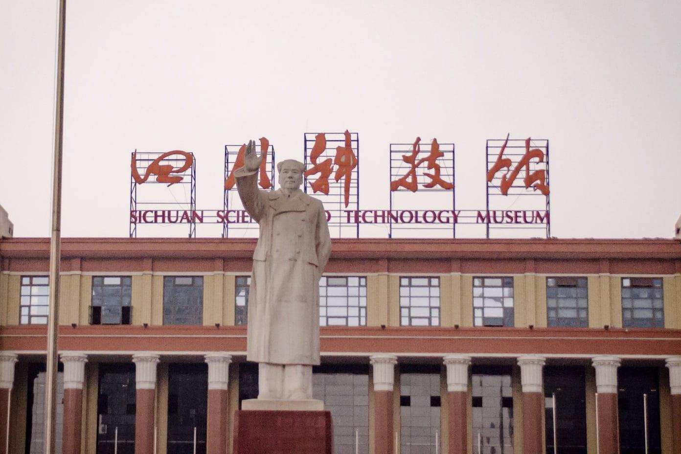 Things to do in Chengdu - Statue of Mao Zedong