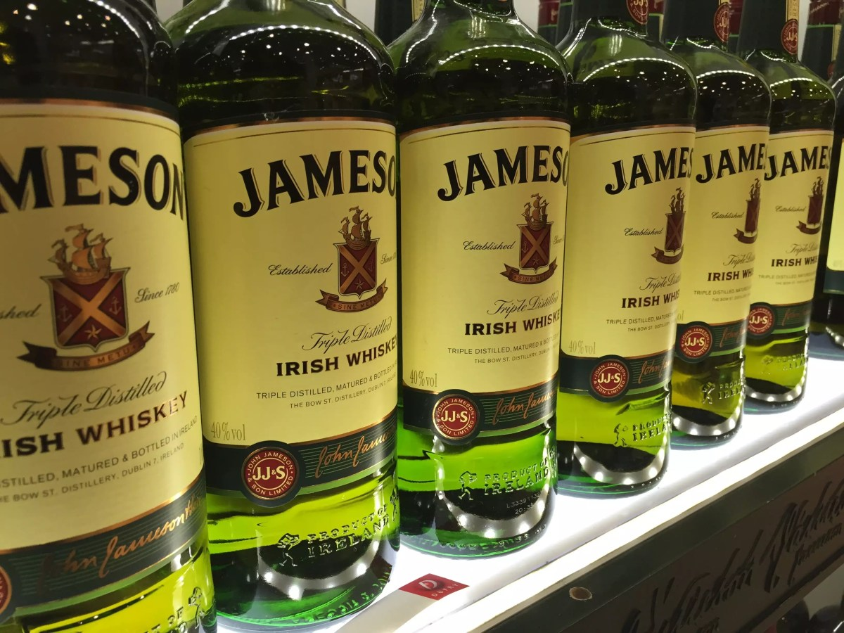 Irish drinks - Jameson whiskey