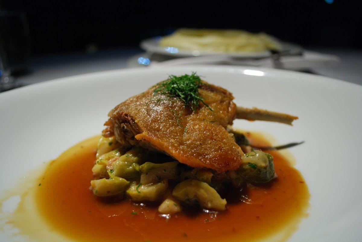 Anthony Bourdain Dubai - Confit, an example of Modern European Cuisine - photo by Alpha under CC BY-SA 2.0