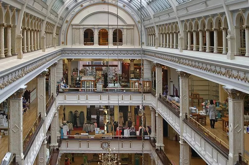 best shopping in Glasgow - Inside House of Fraser in Glasgow - photo by W. Bulach under CC-BY-SA-4.0
