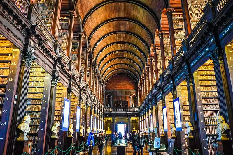 The Old Library at the Trinity College - Book of Kells - photo by Bro. Jeffrey Pioquinto, SJ under CC BY 2.0