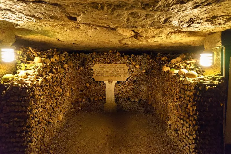 Paris Catacombs - photo by Dale Cruse under CC BY 2.0