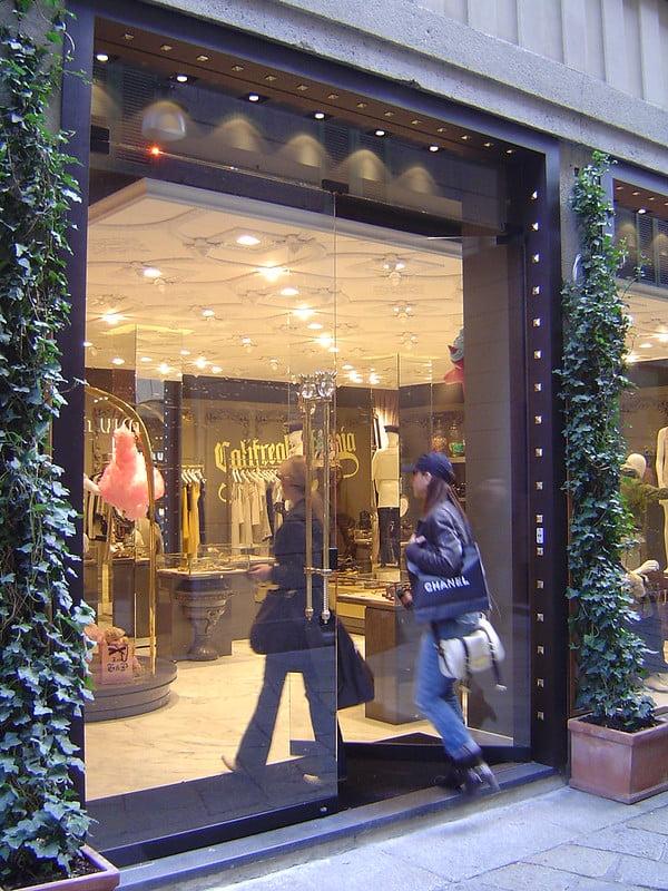 Juicy Couture shop on Via della Spiga - photo by Sergio Calleja (Life is a trip) under CC BY-SA 2.0