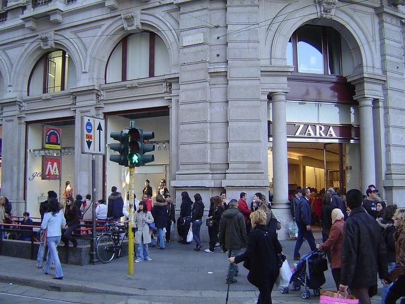 Zara on Via Torino - photo by Sergio Calleja (Life is a trip) under CC BY-SA 2.0