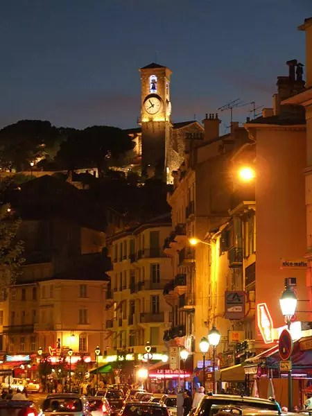 Le Suquet at night - photo by Christophe.Finot under CC BY-SA 2.5