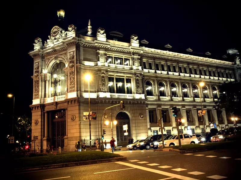 The Bank of Spain, Madrid - photo by Kevin Poh under CC BY 2.0