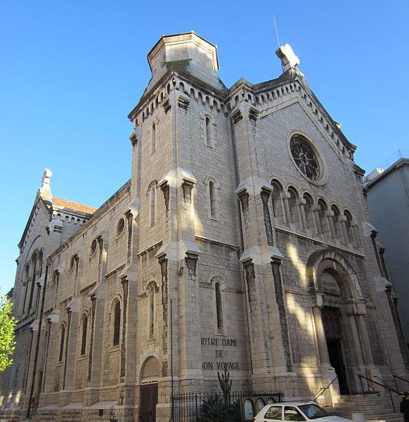 Église Notre Dame de Bon Voyage in Cannes - photo by Aimelaime under PD-self and PD-user