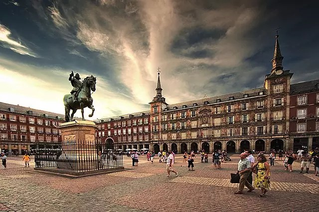historical sites in madrid - Plaza Mayor - photo by CanBea87 under CC BY-SA 4.0