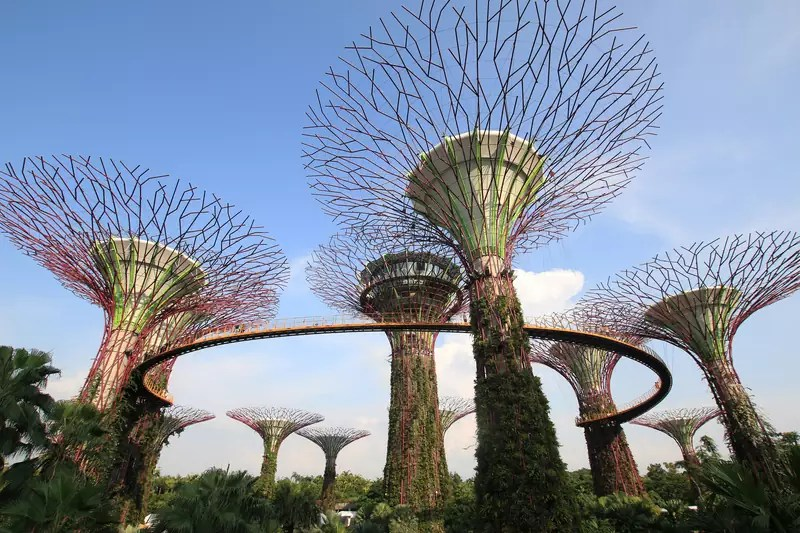 Gardens by the Bay in Singapore - photo by Public Domain under CC0 / Public Domain