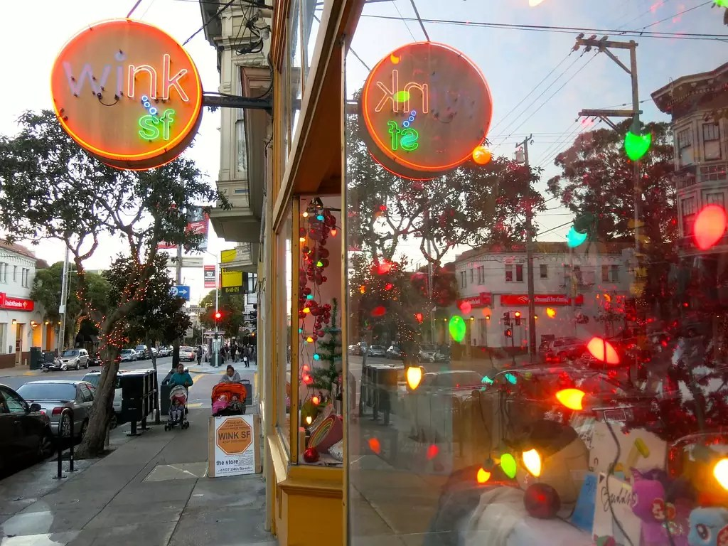 WINK SF on 24th Street - photo by torbakhopper under CC BY-ND 2.0