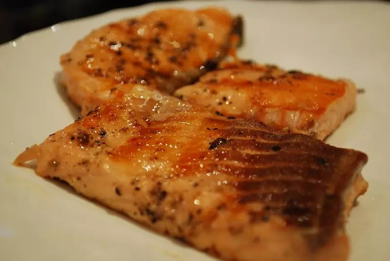 Grilled Salmon - photo by Alpha under CC BY-SA 2.0