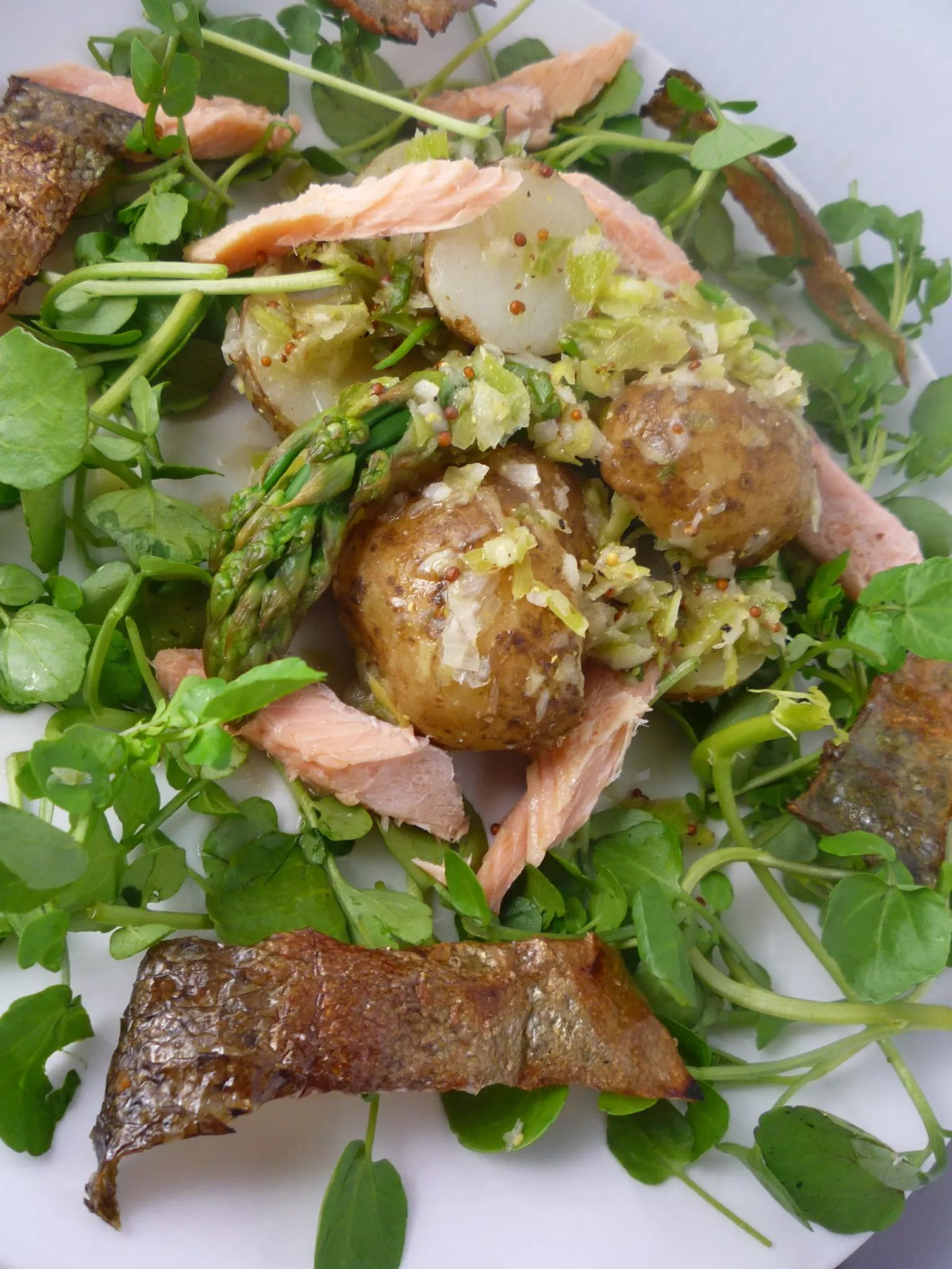 Smoked Trout Salad with Crispy Skin - photo by Beck under CC BY 2.0