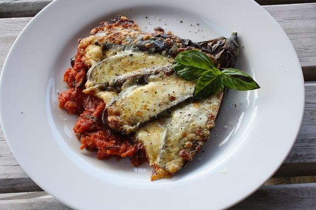 Zucchini and Aubergine Parmigiana - photo by vinaygupta460 under Pixabay License