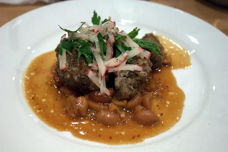 Pork Cheeks with Peanuts & Radishes - photo by Krista under CC-BY-2.0