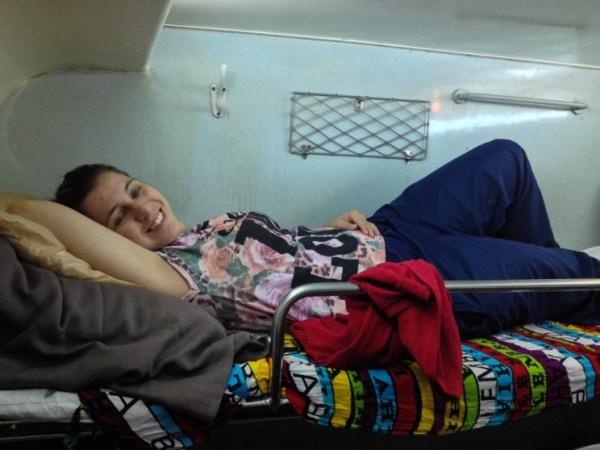 viajando de trem pelo Vietnã