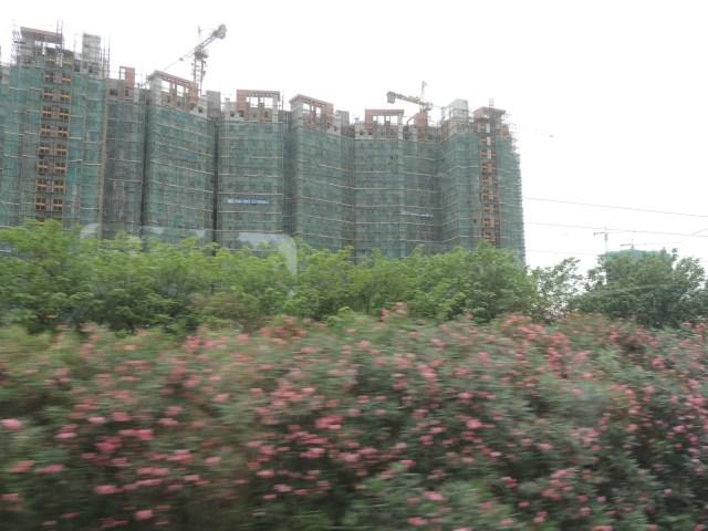 Muitas construções por todas as cidades que passamos até agora