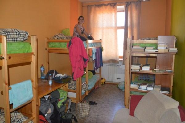 Nosso cantinho no Baikaler Hostel