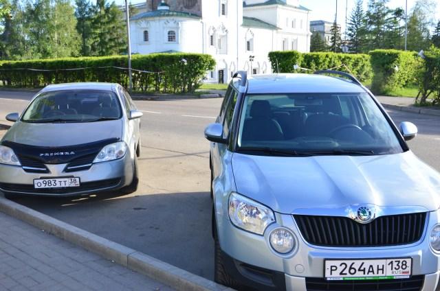 Carros com volantes dos dois lados