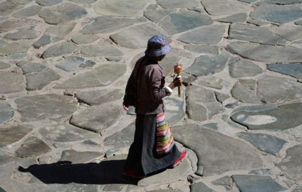 Roda de orações Lhasa Tibet