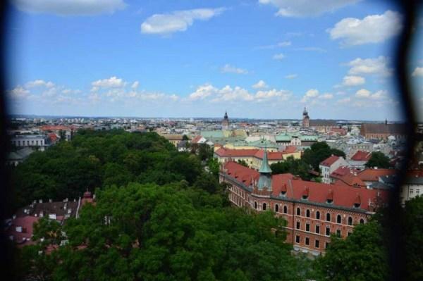 Vista aérea de Cracóvia
