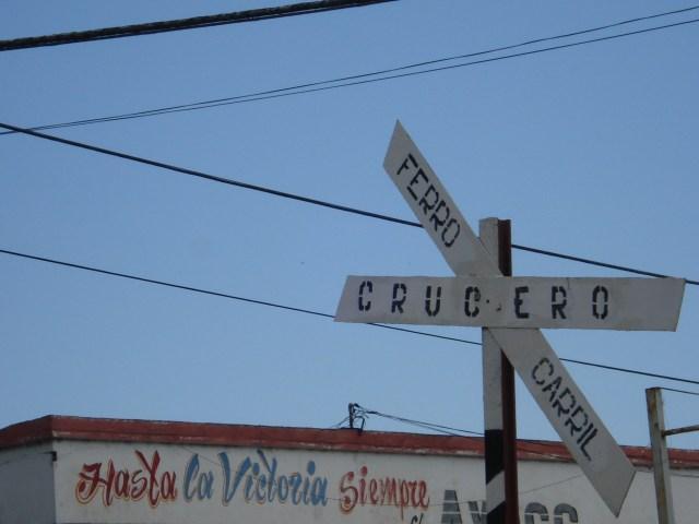 """Local onde o """"trem blindado"""" foi descarilhado e que deu aos guerrilheiros a vitória. Em Santa Clara"""