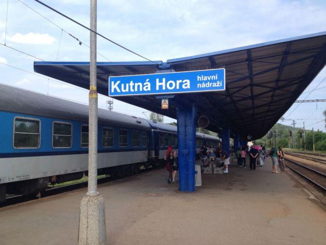 Estação de trem em Kutná Hora