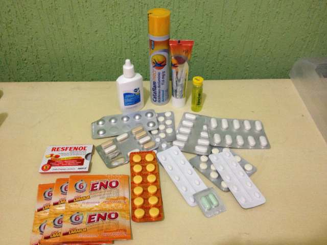 Na necessaire de remédios