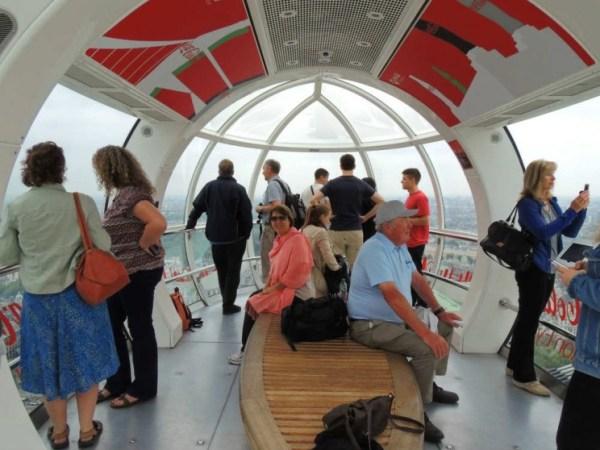 primeira vez em londres De dentro da London Eye