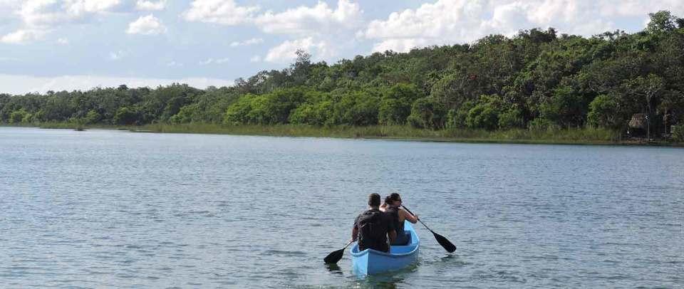 jungle expedition spider monkey tour canoe lagoon