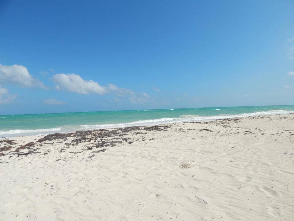 isla blanca white sand beach