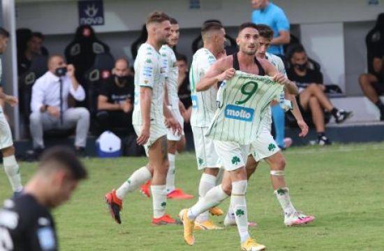 Ο Φεντερίκο Μακέντα του Παναθηναϊκού πανηγυρίζει γκολ που σημείωσε κόντρα στον ΟΦΗ για τη Super League Interwetten 2020-2021 στο 'Θεόδωρος Βαρδινογιάννης', Κυριακή 18 Οκτωβρίου 2020