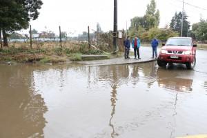 Inundación en circunvalación sur