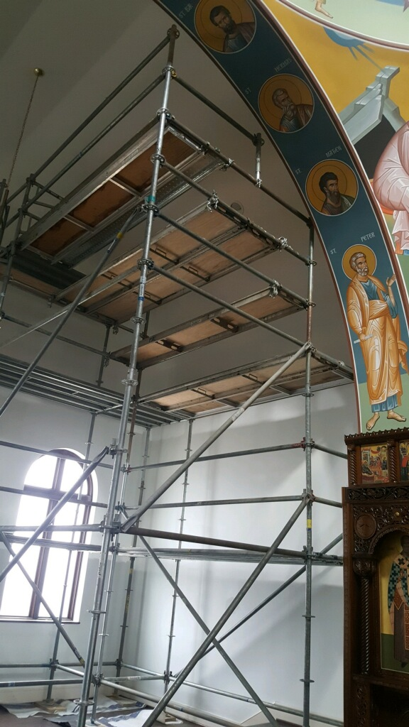 Greek Orthodox Church scaffold 3