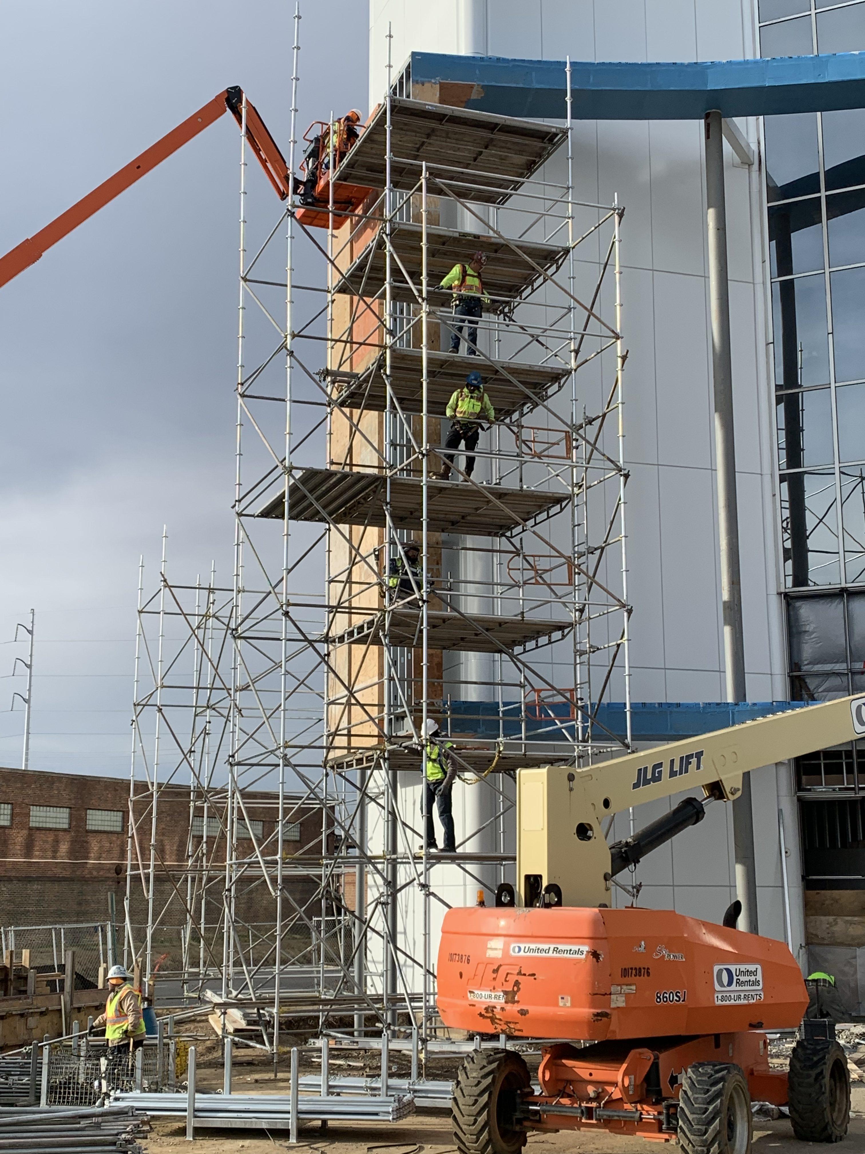 AmFirst Bank sign scaffold 10