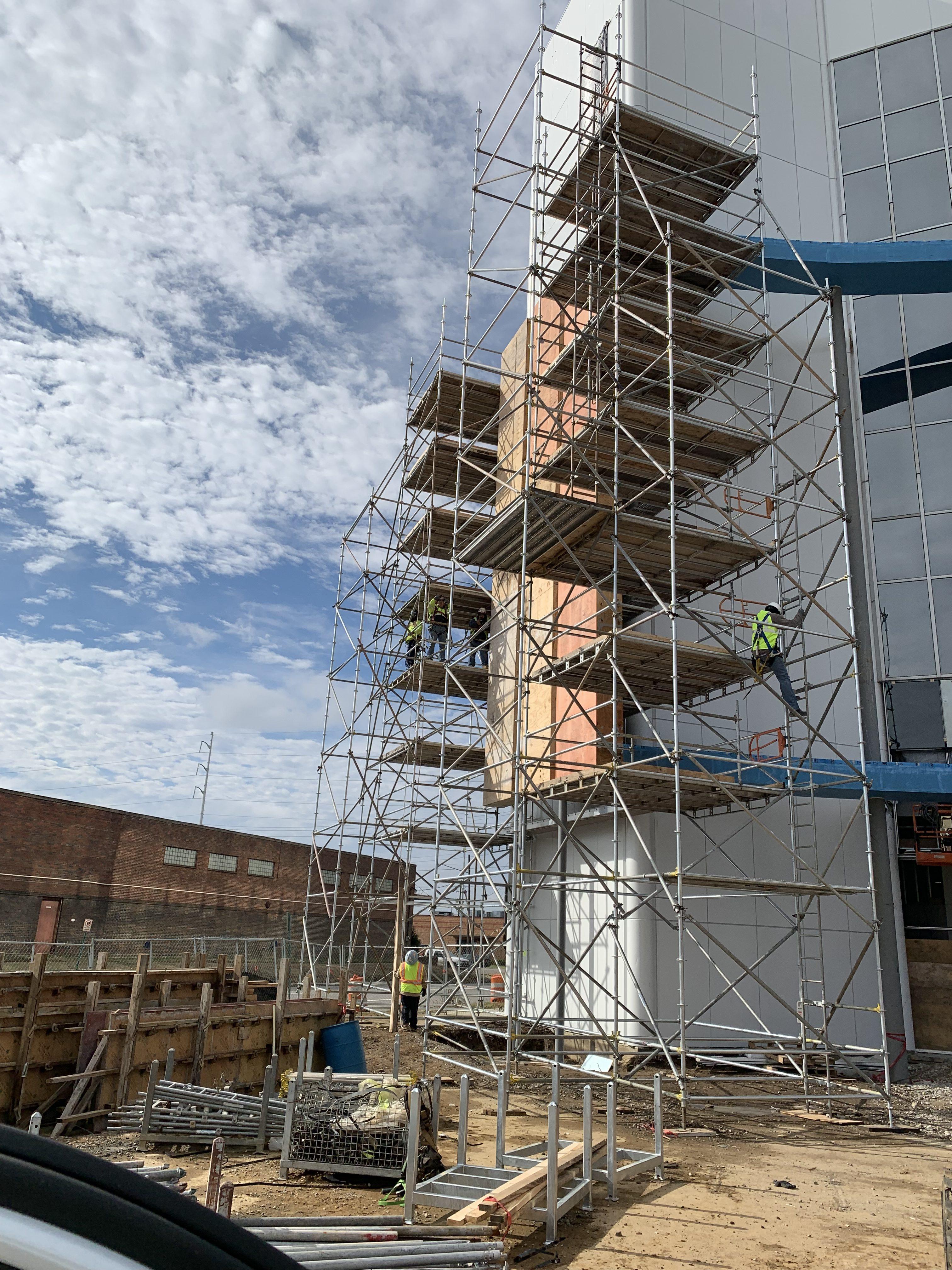 AmFirst Bank sign scaffold 6