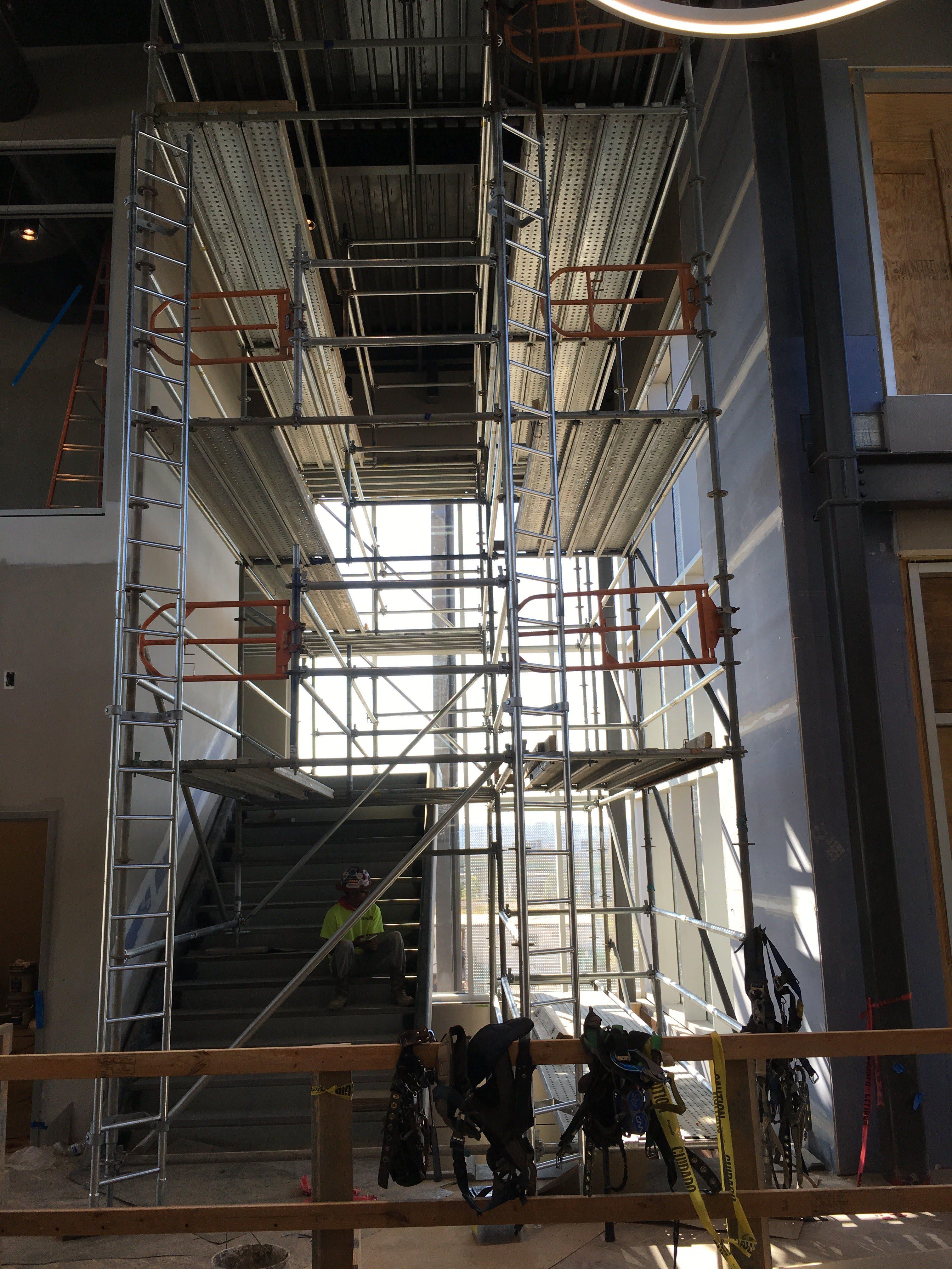 Top Golf Stairwell scaffold 1