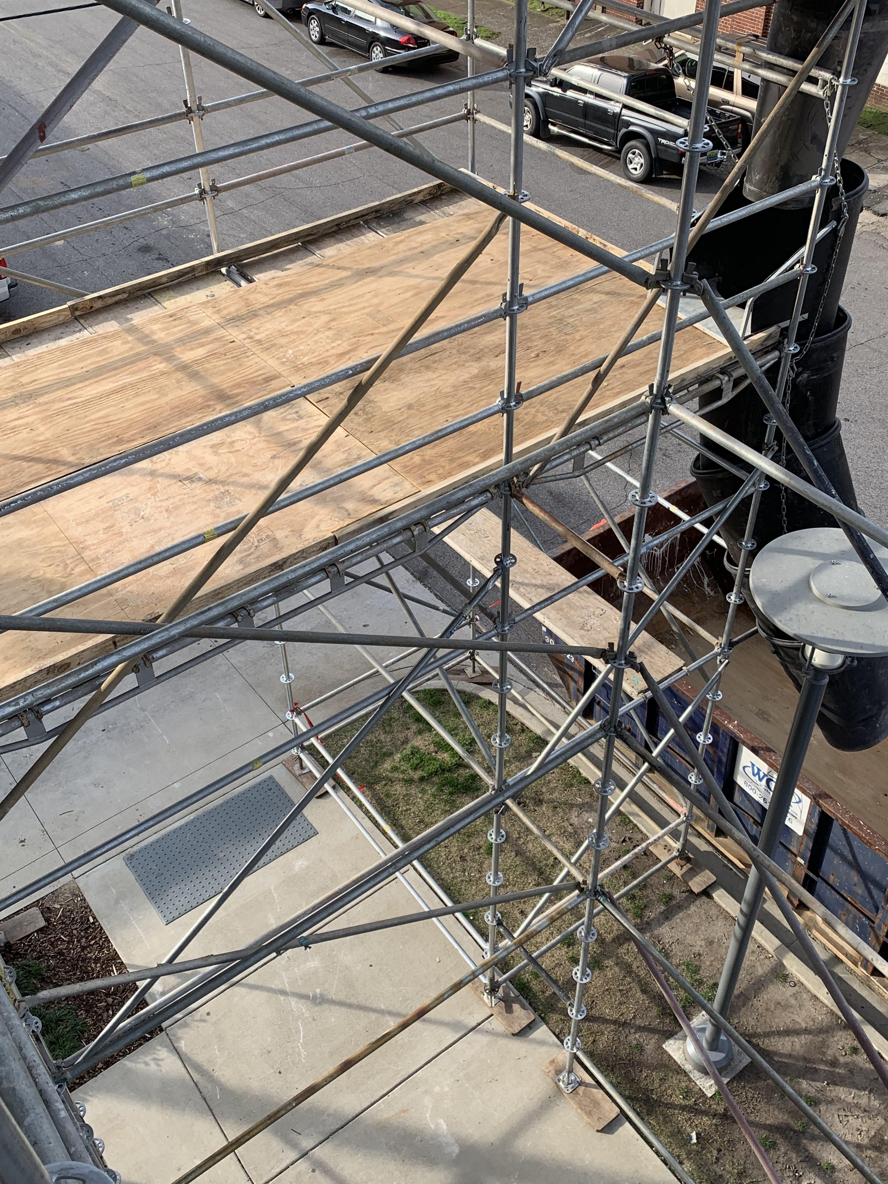 1st Ave S Condo Renovation scaffold 6