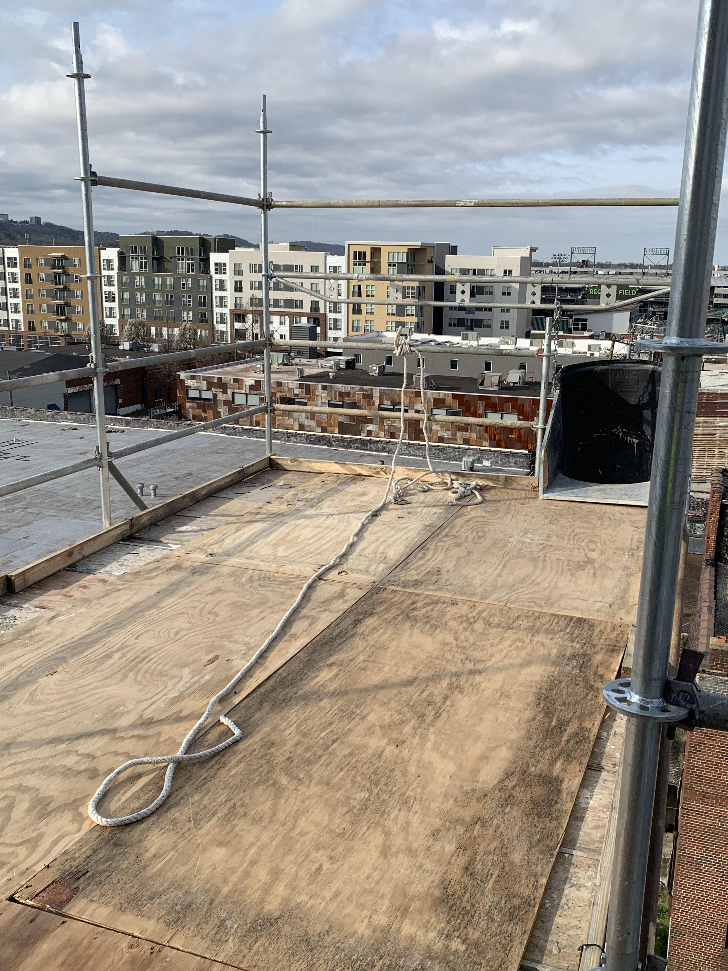 1st Ave S Condo Renovation scaffold 3