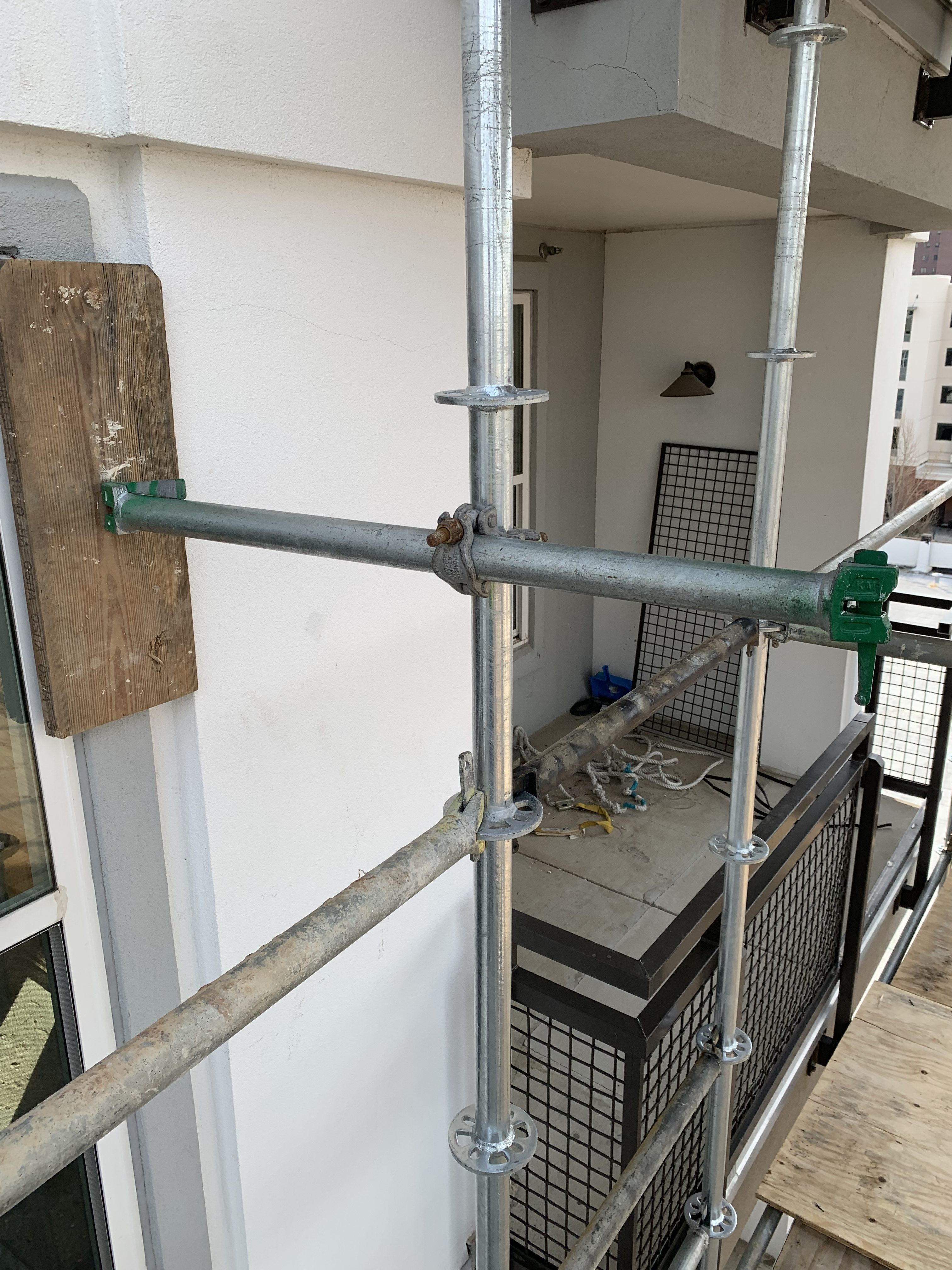 1st Ave S Condo Renovation scaffold
