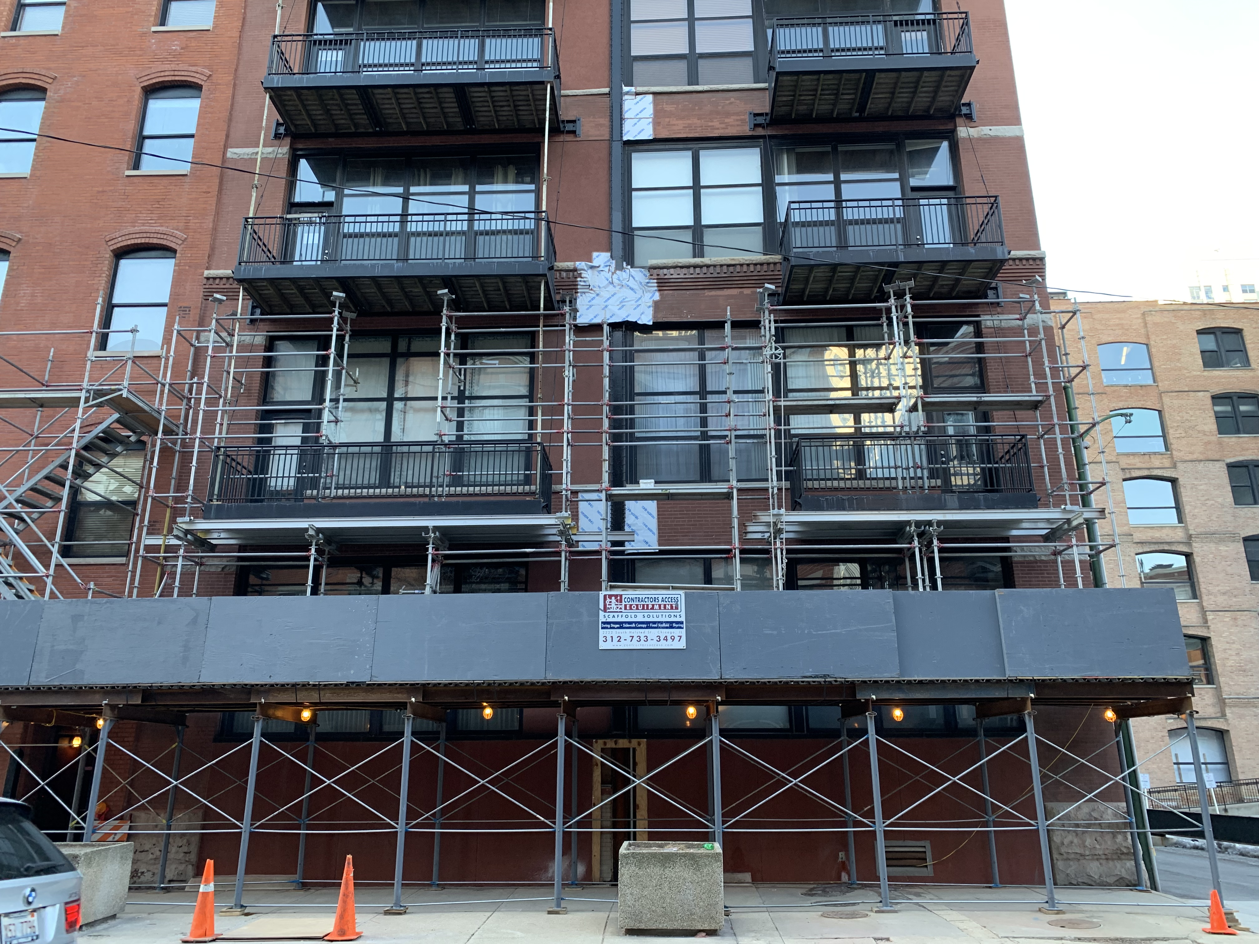 541 W. Fulton - Shoring & Tower scaffold 2