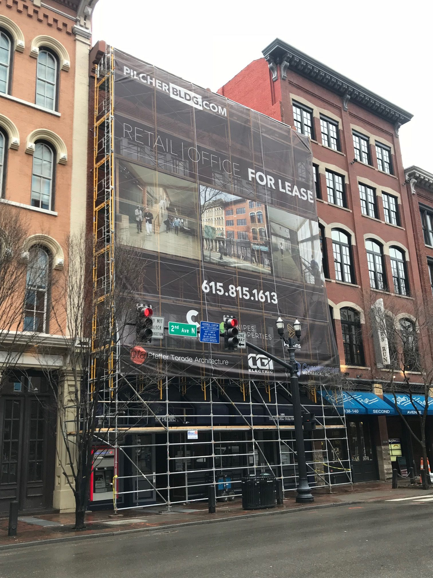 Completed 144 2nd Ave N scaffold project
