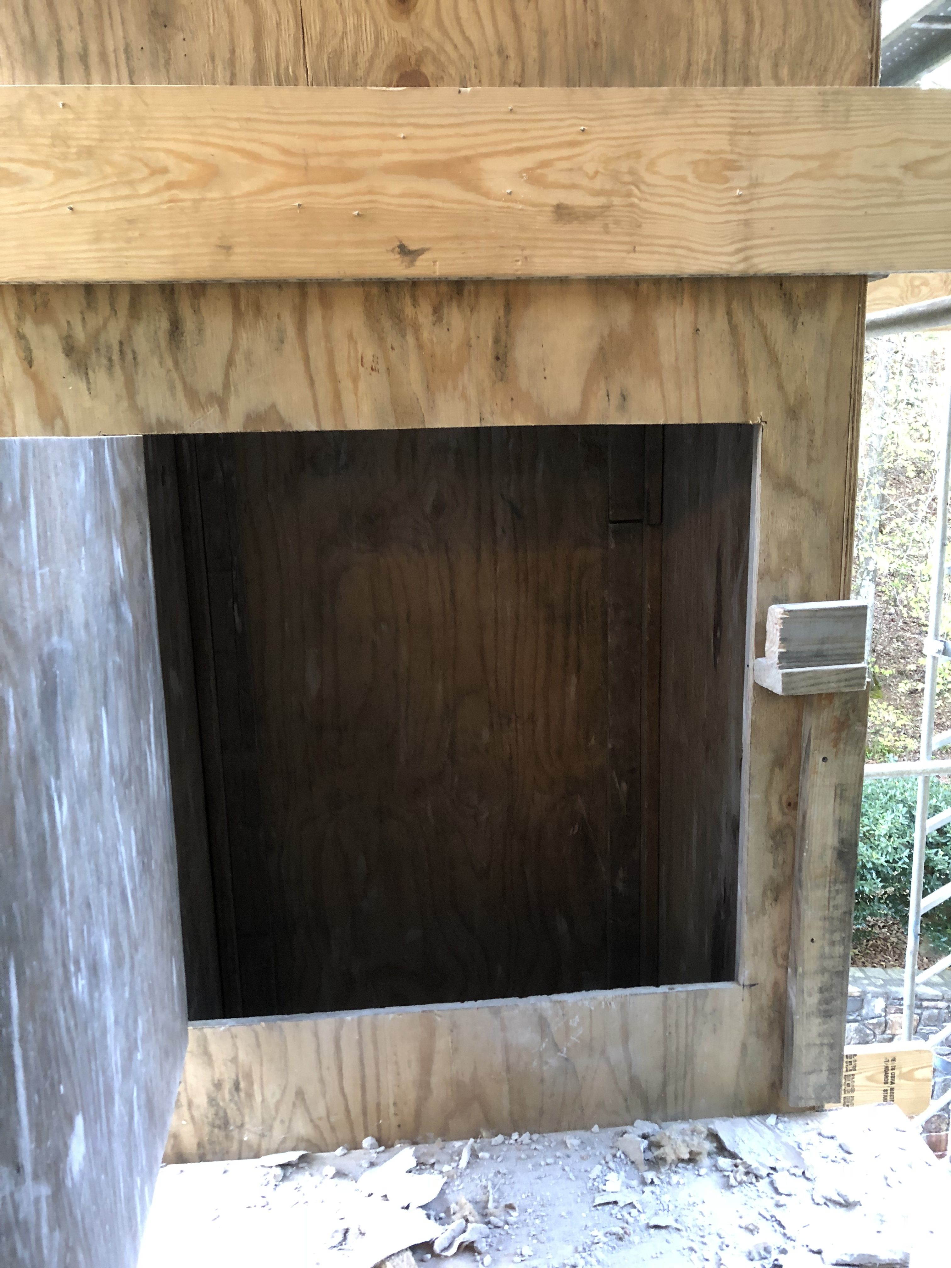 Plywood Trash Chute