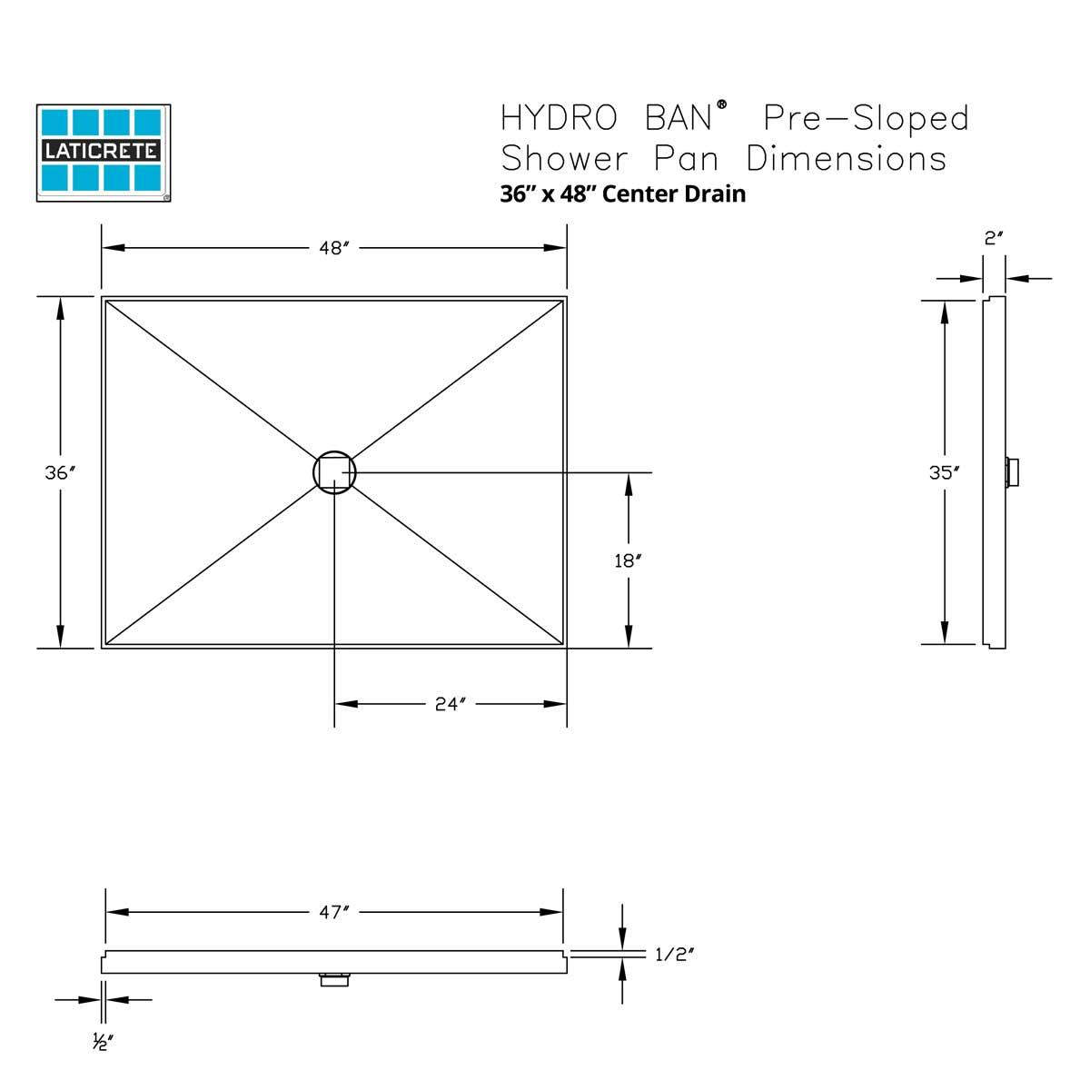 3156 laticrete hydro ban pre sloped shower pan