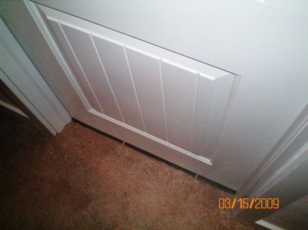 carpet tile transition not under door