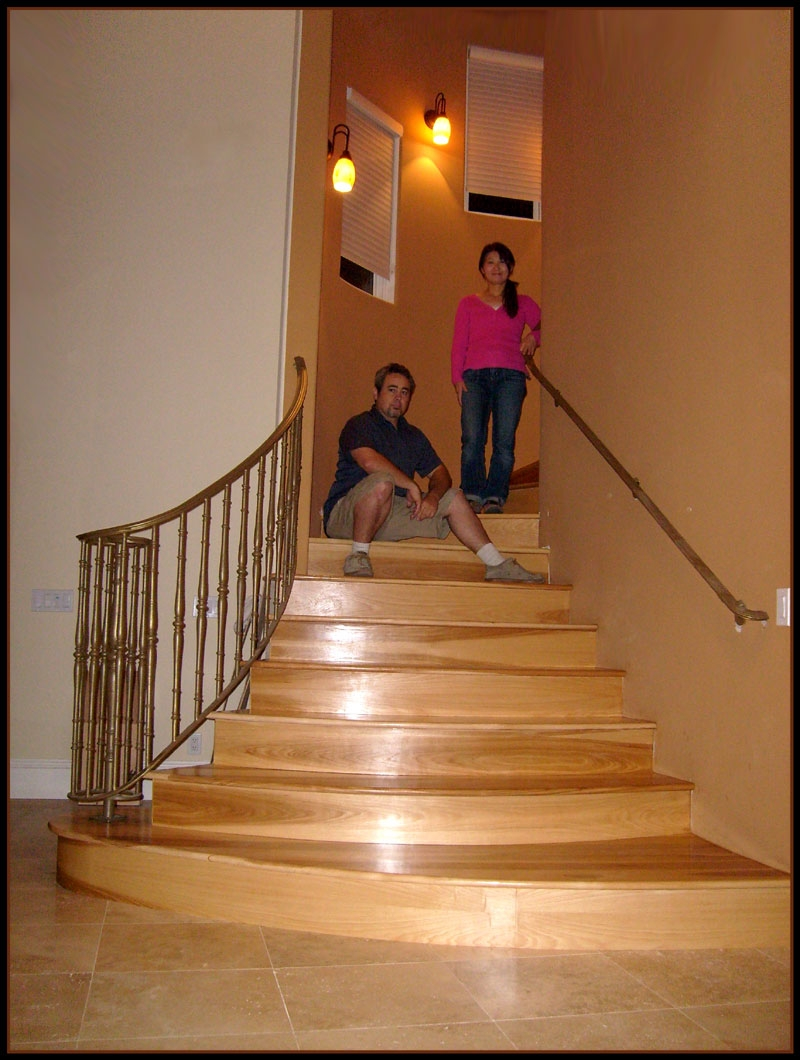 Hickory Wood Hickory Wood Stair Treads | Unfinished Hickory Stair Treads | Hardwood Lumber | Stair Nosing | Stainable | Flooring | Prefinished