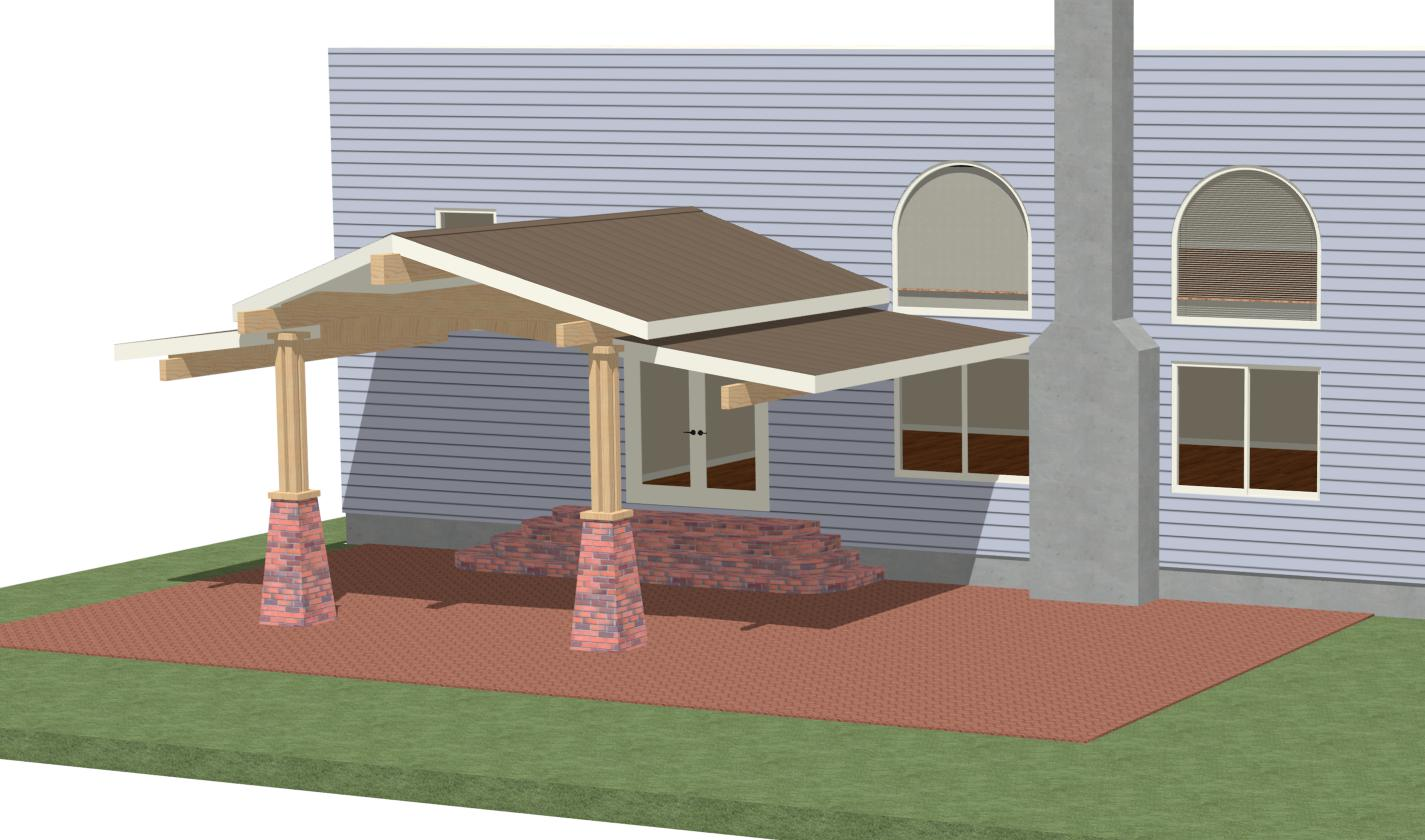Help With Ideas, Patio Roof - Page 2 - Carpentry ... on Roof For Patio Ideas id=82042