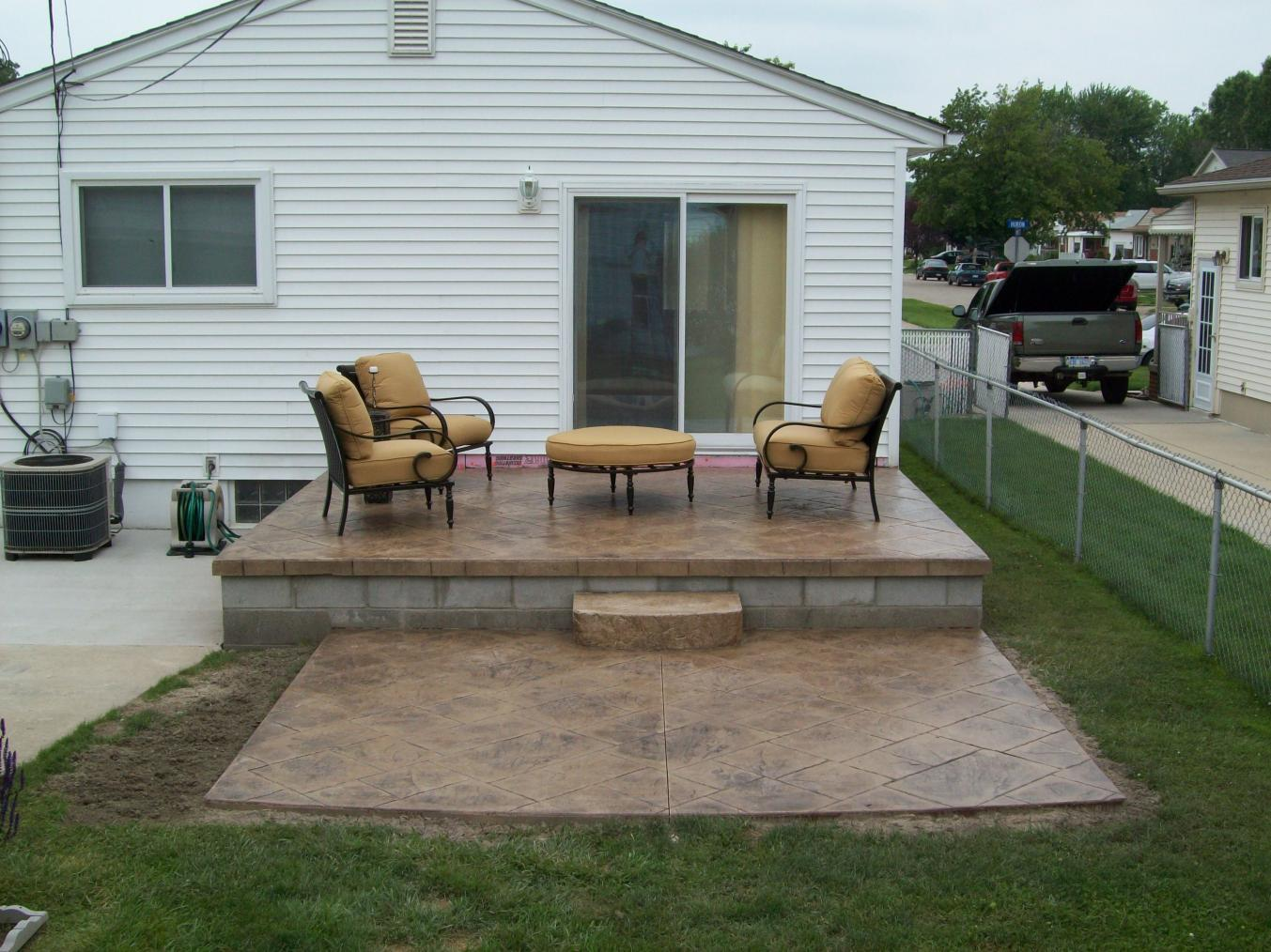 Building Detached Pergola On Concrete, Need Advice ... on Raised Concrete Patio Ideas id=93592