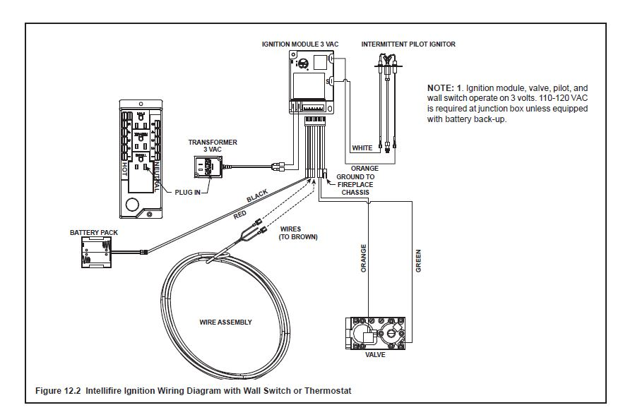 schematic for electric fireplace insert electric