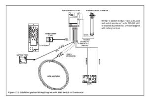Gas Insert Fireplace Wiring  110vLV  Electrical